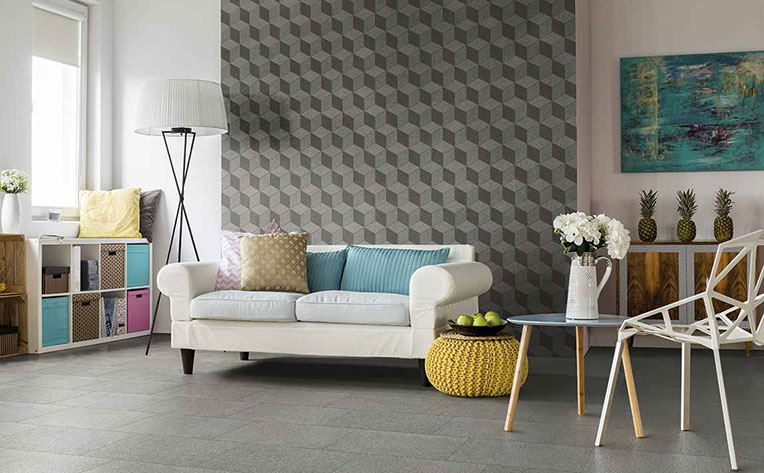 Pastel pillows incorporated in a living room design